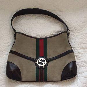 Authentic Gucci Reins Shoulder Bag